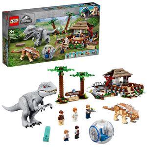 LEGO 75941 Jurassic World Indominus Rex vs. Ankylosaurus, Spielzeug für Mädchen und Jungen ab 8 Jahre mit Dinosaurier-Figuren und Gyrosphäre