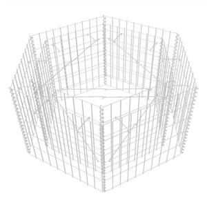 vidaXL Sechseckiges Gabionen-Hochbeet 100×90×50 cm