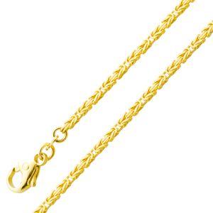 Goldkette Königskette Goldarmband 1,8mm Gelbgold 585 massiv 19cm 45cm 55cm 45