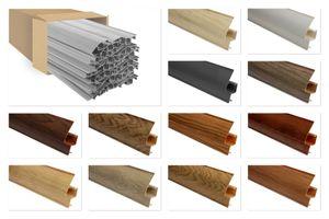 PVC Sockelleisten Sparpakete Fußbodenleisten 23x65mm Modern Kabelkanal, Muster / Farbe:8649 Holzoptik Birne, Menge:20 Meter / 10 Leisten