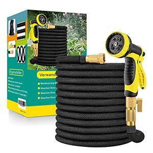 Flexibler Gartenschlauch 30m Wasserschlauch Flexibel mit 10-Funktions-Düse