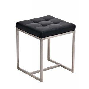 Sitzhocker Barci, Kunstleder  schwarz