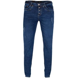 GIN TONIC Damen Boyfriend Jeans Mid Blue Wash, Größe:34/32, Farbe:MID BLUE WASH