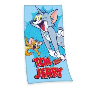 Tom & Jerry Badetuch / Strandtuch / Handtuch, 100% Baumwolle ( Velours ), 75x150 cm