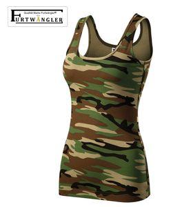 T-Shirt Tank Top camouflage braun 2XL Furtwängler Damentop Triumpf Stretch
