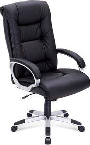 Bürostuhl, Ergonomischer Chefsessel aus Kunstleder, Schreibtischstuhl mit Hoher Rückenlehne, 360°verstellbarer Drehstuhl - IntimaTe WM Heart
