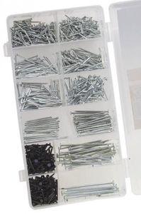Nagel Sortiment 1060 teilig Nägel Drahtstifte Stahlstifte Set