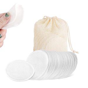 NightyNine 50 Stück Waschbare Abschminkpads, Wiederverwendbare Wattepads, Bambus und Baumwolle, Weich & Umweltschutz Schonend Abschminktücher