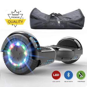Hoverboard-6,5 Zoll mit 350w*2 Motorbeleuchtung-Tasche-LED-Leuchten und Bluetooth-Lautsprecher Camouflage, Segway Neues Modell Spielzeug und Geschenk für KinderE-Skateboard Elektroroller self balance Scooter E-Balance Scooter