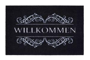 """Fußmatte 39 x 58 cm Sauberlaufmatte """"Willkommen"""" Türmatte waschbar und pflegeleicht"""