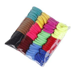100 Stück Haargummis Farbe Dunkle Farbe 5cm