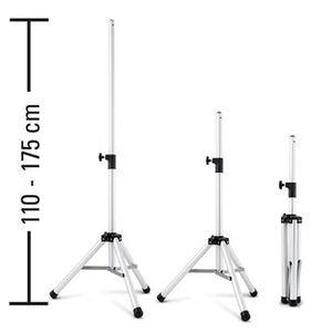 TROTEC 3-Bein-Stativ Teleskopstativ – Höhenverstellung 110 – 175 cm Teleskopauszug für Infrarot-Heizstrahler