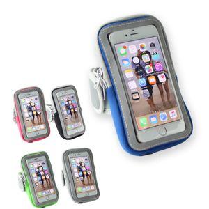 Armband Tasche mit Fach Fitness Hülle Oberarm Laufen Joggen, Farbe:Lila, Handymodell:Für Umidigi A5 Pro