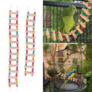 2x Bunte Perlen Vogel Spielzeug Papagei Leiter Spielzeug Skala Swing Training Tool