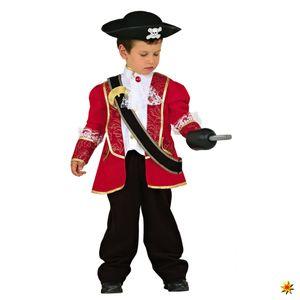 Kinderkostüm kleiner roter Pirat, Größe:104