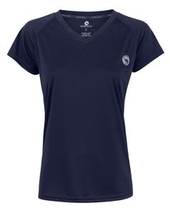 "Damen Sport-Shirt ""vital"" von Stark Soul, Kurzarm, Trainingsshirt - Marine - M"