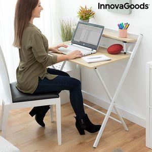 Klappbarer Schreibtisch mit Ablage Tablezy InnovaGoods