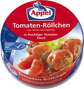Appel Tomaten Röllchen Heringsfilets in fruchtiger Tomaten Sauce 200g