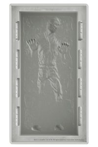 Star Wars Silicon Tray Han Solo in Carbon. Deluxe