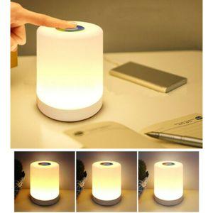 LED Nachttischlampe Touch-Sensor-Steuerung Leseleuchte Dimmbar RGB Tischlampe