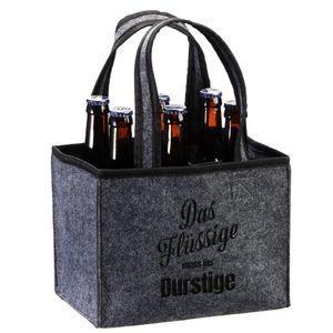 """Flaschenträger """"Das Flüssige muss..."""" Männerhandtasche"""