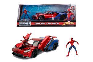 Jadatoys Modellauto Marvel Spiderman 2017 Ford GT 1:24