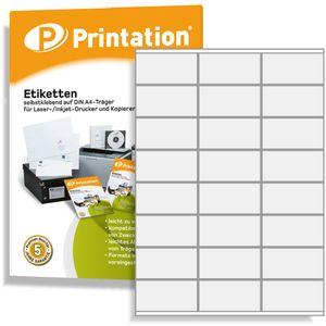 Printation Universal Etiketten 2400 Stk. 70 x 36 mm Internetmarke weiß - 70x36 Aufkleber auf 100 DIN A4 Bogen 3x8 - 3475 3490 6122 4453 la131 la132