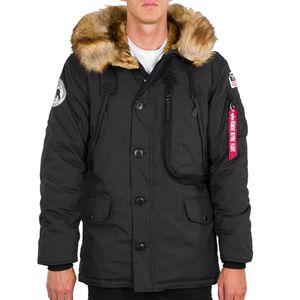 Alpha Industries Herren Winterjacke Polar schwarz L