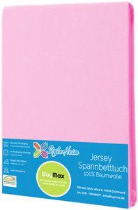 Jersey Topper Spannbettlaken Spannbetttuch Baumwolle Bettlaken, 140x200 - 160x200 cm, Altrosa