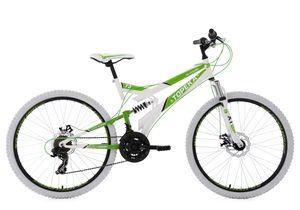 26 Fully Mountainbike 21 Gänge Topeka (weiß-grün)