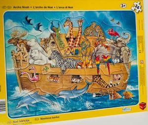 Rahmenpuzzle 2er Pack, Tierwelt/Arche Noah, 32/36 Teile