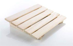 Eliga Kopfstütze oder Fußstütze aus Holz natur für Sauna