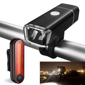 LED Fahrradlicht Fahrradbeleuchtung Fahrradlampe Set inkl Batterie & Rücklicht
