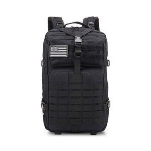 Großer Bundeswehr Rucksack 45l in Schwarz, Militär Kampfrucksack, Molle Army 3-DayPack, US Assault Pack, BW Armee Outdoor Tasche