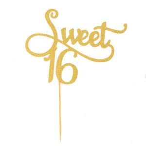Oblique Unique Torten Topper Kuchen Muffin Aufsatz Sweet 16 Geburtstag Jubliäum Deko