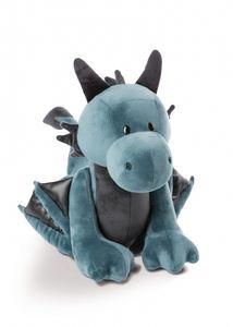 Nici 46713 blauer Drache Ivar 20cm stehend Plüsch Kuscheltier Dragonia