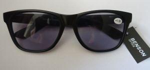 GKA getönte Lesebrille +3,5 Dioptrien Sonnenbrille mit Sehstärke Sonnenlesebrille Nerd mit Federbügel Sonne Brille schwarz