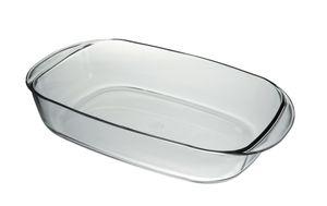 Duralex 6003AF03A1111 Ovenchef Tarte-Form, 25x41cm, 4.8 Liter, Glas, transparent, 3 Stück