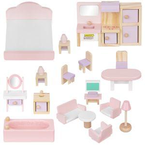 Puppenmöbel Puppenhaus Zubehör Möbel aus Holz 22 Teile 11213