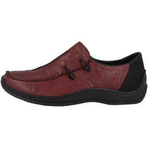 Rieker Damen Halbschuhe Slipper Leder L1751, Größe:38 EU, Farbe:Rot
