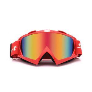 Crossbrille Skibrille Motocross Brille Sport Sonnenbrille Schneebrillen Red- red Film