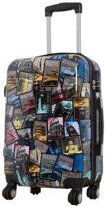 Reisekoffer M Welt Bilder mit Metropol City Hauptstäte 57x37x22cm Hartschale Koffer Bordgepäck Handgepäck Kabinen Trolley Bowatex