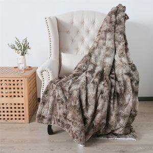 Verdickte Doppelschicht Lamm Daunen Lange Plüsch Krawattengefärbte gebürstete PV Fleece Decke