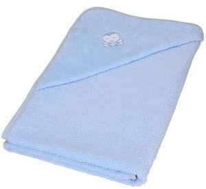 Betz 3tlg Kapuzentuch 85x85 cm Babyset BIENEN 100% Baumwolle 1 Kinder Badetuch 1 Lätzchen 1 Waschhandschuh Baby Farbe - hellblau