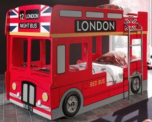 Vipack Etagenbett London Bus Rot 90 x 200 cm