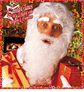 Weihnachtsmann Perücke Mit Maxi Bart, Schnurrbart Und Augenbrauen
