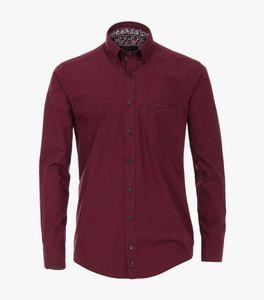 Casa Moda - Casual Fit - Herren Freizeit Hemd mit Minimalprint (493317800A), Größe:6XL, Farbe:Rot (400)