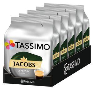 TASSIMO Jacobs Espresso Ristretto 5er Pack T Discs Kaffee Kapseln 5x 16 Getränke