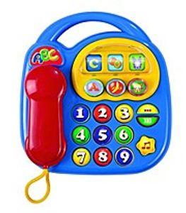 SIMBA Baby ABC Telefon mit Sound Spieltelefon Kindertelefon Babytelefon