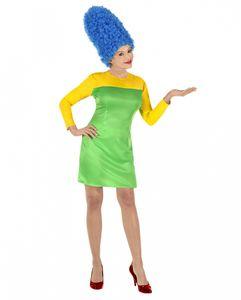 Marge Comic Lady Frauenkostüm mit Turmfrisur Größe: M